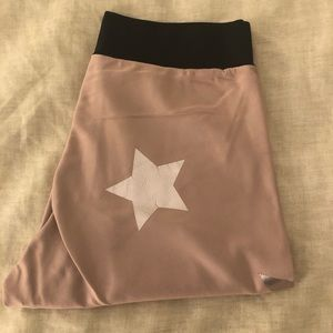 Ultracor pink cropped star leggings